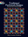 Traditional Patchwork Designs Stained Glass Coloring Book - Dover Publications Inc.