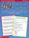 40 Rubrics & Checklists to Assess Reading and Writing: Time-Saving Reproducible Forms and Great Strategies for Meaningful Assessment - Adele Fiderer