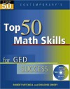 Top 50 Math Skills for GED Success - Student Text [With CDROM] - Robert Mitchell