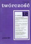 Twórczość, nr 12 (673)/ 2001 - Emily Dickinson, Henryk Bereza, Joanna Bator, Redakcja miesięcznika Twórczość