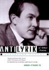 Antilyrik and Other Poems - Vítězslav Nezval, Jerome Rothenberg