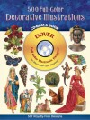 500 Full-Color Decorative Illustrations CD-ROM and Book - Dover Publications Inc.