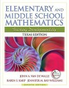 Texas Edition of Elementary and Middle School Mathematics (7th Edition) - John A. Van de Walle, Jennifer M. Bay-Williams, Karen S. Karp