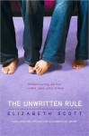The Unwritten Rule - Elizabeth Scott