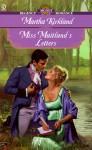 Miss Maitland's Letters - Martha Kirkland