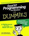 Excel 97 Programming for Windows for Dummies - John Walkenbach
