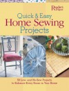 Quick and Easy Home Sewing Projects - Gloria Nicol