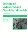 Joining of Advanced and Specialty Materials - M. Singh