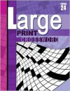 Large Print Crossword, Volume 24 - School Specialty Publishing, Vincent Douglas