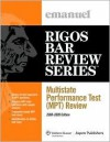Multistate Perfomance Test (Mpt) Review: 2008-2009 Edition - Steven L. Emanuel, Jim Rigos