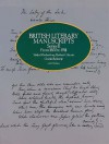British Literary Manuscripts, Series II: From 1800 to 1914 - Verlyn Klinkenborg