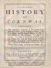 A Compleat History of Cornwal - Thomas Cox