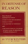 In Defense Of Reason - Yvor Winters, Kenneth Fields