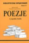 Poezje - Staff - opracowanie zeszyt 71 - Urszula Lementowicz