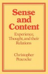 Sense and Content - Christopher Peacocke
