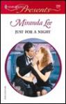 Just for a Night (Mills & Boon Modern) - Miranda Lee