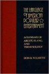 The Language of American Popular Entertainment: A Glossary of Argot, Slang, and Terminology - Don B. Wilmeth