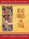 Read, Write, and Talk (DVD): A Practice to Enhance Comprehension - Stephanie Harvey, Anne Goudvis