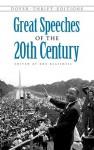 Great Speeches of the 20th Century - Bob Blaisdell