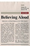 Believing Aloud: Reflections On Being Religious In The Public Square - Mark Douglas, Walter Brueggemann