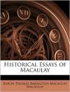Historical Essays of Macaulay - Thomas Babington Macaulay