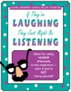If They're Laughing, They Just Might be Listening: Ideas for Using Humor Effectively in the Classroom - Even if You're Not Funny Yourself - Cheryl Miller Thurston, Elaine M. Lundberg, Patricia Howard