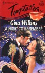 A Night to Remember (Harlequin Temptation #620) - Gina Wilkins