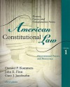 American Constitutional Law, Volume 1: Governmental Powers and Democracy - Donald Kommers