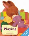 Playing: A Baby Bunny Board Book - Mathew Price, Atsuko Morozumi