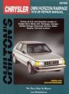 Chrysler Omni, Horizon, and Rampage, 1978-89 - Chilton Automotive Books, Chilton's Automotives Editorial, Chilton Automotive Books