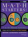 Math Starters: 5- to 10-Minute Activities Aligned with the Common Core Math Standards, Grades 6-12 (Jossey-Bass Teacher) - Judith A Muschla, Gary Robert Muschla, Erin Muschla
