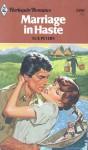 Marriage in Haste - Sue Peters
