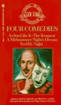 Four Great Comedies: Tempest; Twelfth Night; a Midsummer Night's Dream; As You Like It: Cambridge Text and Glossaries, Complete and Unabridged - William Shakespeare