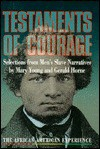 Testaments Of Courage: Selections From Men's Slave Narratives - Mary O'Keefe Young, Mary Young