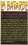 La Batarde - Violette Leduc, Derek Coltman, Simone de Beauvoir