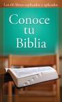 Conoce tu Biblia: Know Your Bible - Various