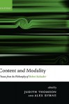 Content and Modality: Themes from the Philosophy of Robert Stalnaker - Judith Jarvis Thomson