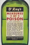 Measures of Poison - Dennis McMillan, James Crumley, George Pelecanos, Scott Phillips, Rick DeMarinis, Bill Pronzini, Gary Phillips, James Sallis, A.A. Attanasio, Charles Willeford, Howard Browne, Craig Miles Miller, Jesse Sublett, James Durham, Janwillem van de Wetering, Bob Truluck, Kent H