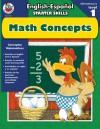 English-Espanol Starter Skills, Math Concepts (English-Espanol Starter Skills) - School Specialty Publishing, Frank Schaffer Publications
