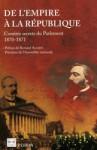 De l'Empire à la République, comités secrets du Parlement 1870-1871 - Collectif