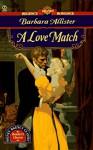 A Love Match - Barbara Allister