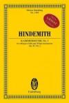 Kammermusik No. 3, Op. 36, No. 2: Obbligato Cello and 10 Solo Instruments Study Score - Paul Hindemith