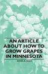 An Article about How to Grow Grapes in Minnesota - Samuel Green