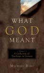 What God Meant, Vol. 1: A Collection of Teachings on Genesis - Michael Berg