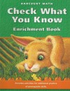 Check What You Know: Enrichment Books - Evan A. Maletsky, Karen A. Schultz, Janet K. Scheer, Vicki Newman, Joyce C. McLeod, Lynda A. Luckie, Howard C. Johnson, Grace M. Burton, Angela Giglio Andrews