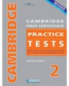 Cambridge First Certificate Practice Tests 2: For the First Certificate in English Examination - Nicholas Stephens