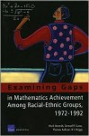 Examining Gaps in Mathematics Achievement Among Racial Ethic Groups - Mark Berends