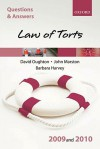 Law of Torts 2009-2010 (Blackstone's Law Q & A) - David Oughton, John Marston, Barbara Harvey