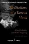 Meditations of a Korean Monk: A Weekly Reader Zen Master Beopjeong - Master Beopjeong, D. Bannon