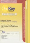 OneKey CourseCompass, Student Access Kit, Essentials of Fire Fighting and Fire Department Operations - IFSTA